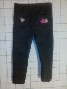Pantalon en jean noir.