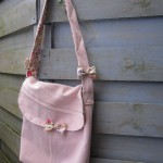 sac en jean rose fait main