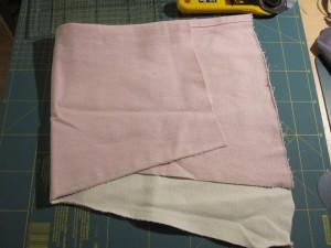 tissu en jean rose