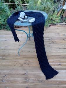 écharpe tricotée main 220cm