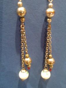 boucles perle et chaine