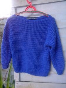 pull bleu de Bretagne